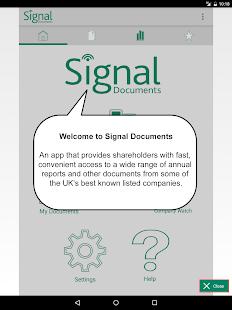 Signal Documents - náhled