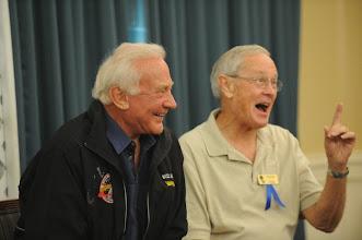 Photo: Moonwalker Buzz Aldrin of Gemini 12 & Apollo 11, and Moonwalker Charlie Duke of Apollo 16