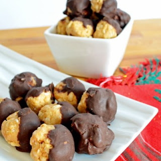 No Bake Chocolate Dipped Peanut Butter Balls