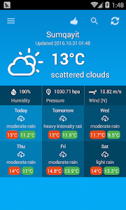 Weather Azerbaijan screenshot 2