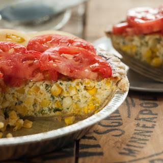 Savory Corn Tart with Heirloom Tomatoes