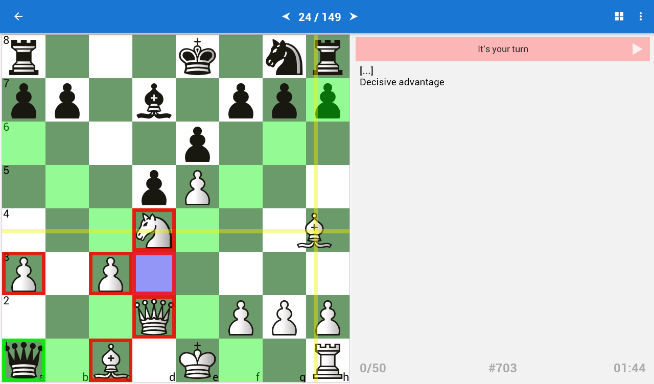 Chess Tactics for Beginners- screenshot