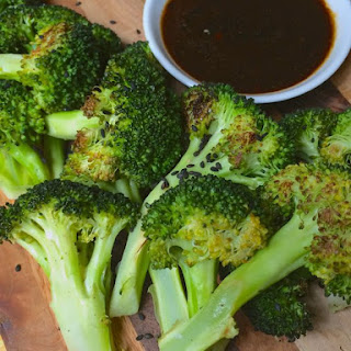 Roasted Broccoli with Hoisin Dipping Sauce Recipe