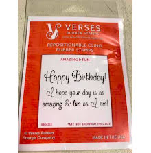 Verses Rubber Stamps - Amazing & Fun