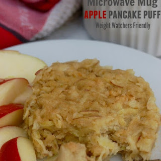 4 Ingredient Microwave Mug Apple Pancake Puff