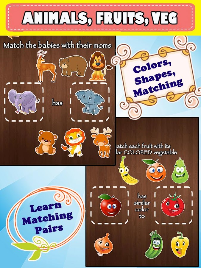 Preschool Worksheet For Kids - Match the Objects- screenshot