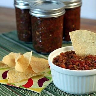 Roasted Salsa for Canning.