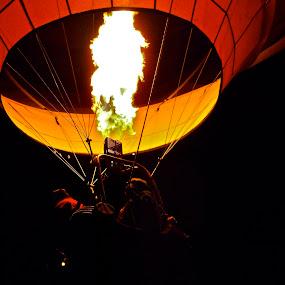 Dawn Patrol - Balloon Races by John Shelton - Uncategorized All Uncategorized ( reno, nevada, night, great reno balloon race, hot air balloons, balloons, fire,  )
