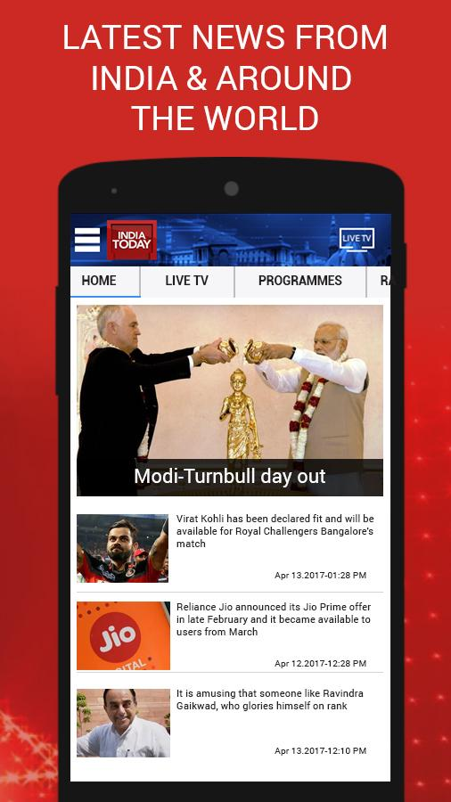 English News by India Today TV- screenshot