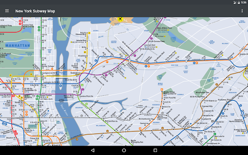 How do you view a NY Subway map on a smartphone?