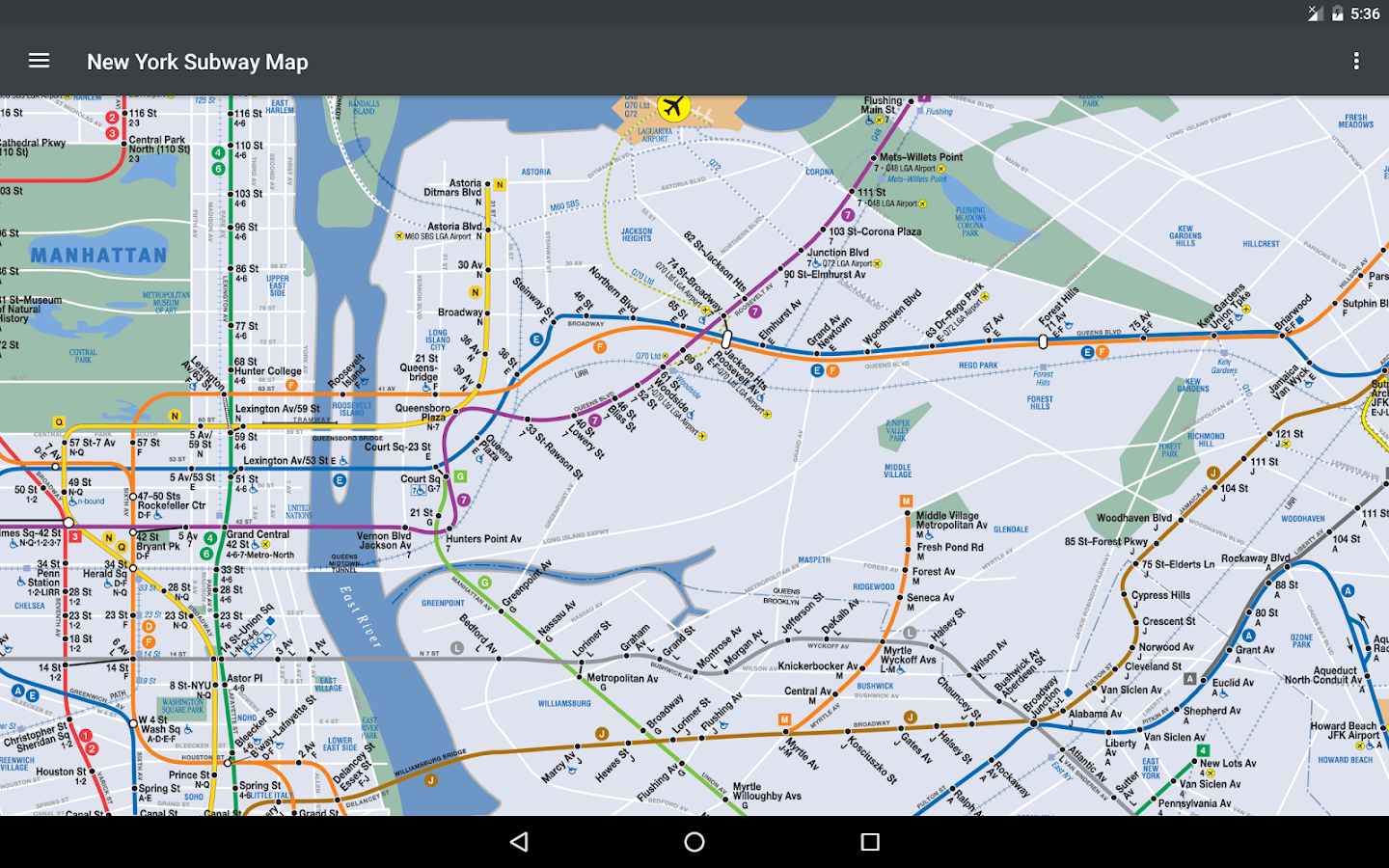 New York Subway Map NYC Android Apps On Google Play - Nyc subway map j train