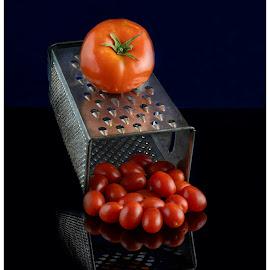 Making little tomatoes by Deborah Felmey - Food & Drink Fruits & Vegetables ( tomatoes, eats, still life, tomato, food )