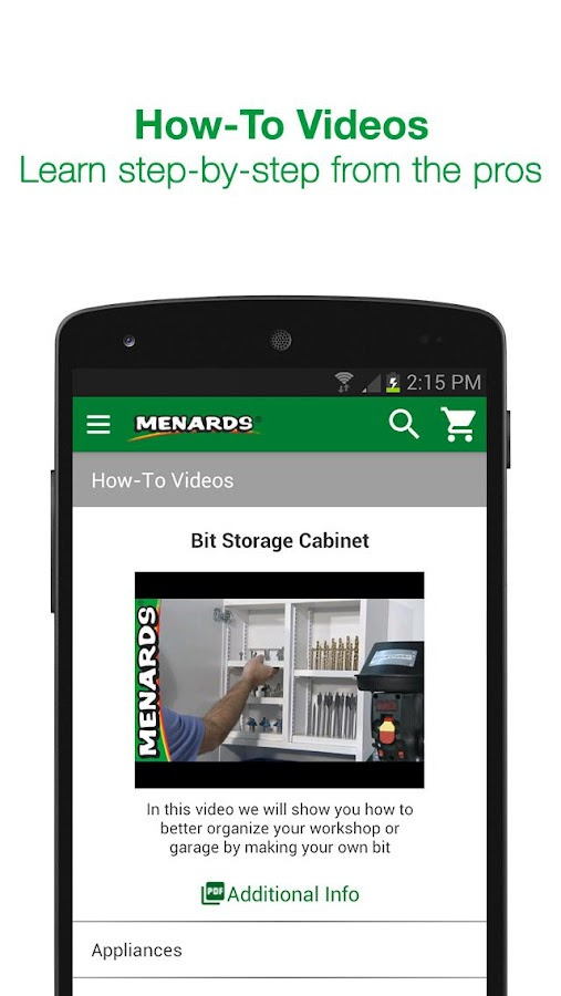 Menards®- screenshot