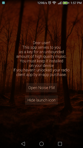Noise FM - Unlocker app for Android screenshot