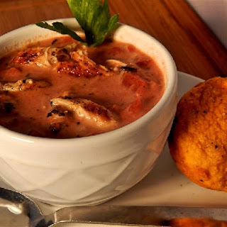 Fire-Roasted Tomato and Chicken Soup.
