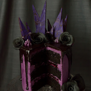 Chocolate Blackberry Elegantly Gothic Halloween Cake