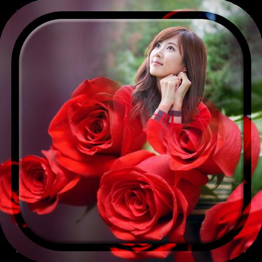 Red Rose Photo Frame