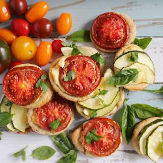 Ricotta Sage Tarts with Kumato & Zucchini.