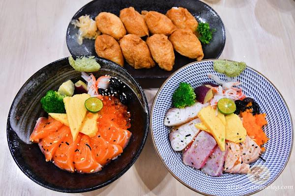 漁牧丼飯壽司~嘉義平價丼飯推薦,點丼飯送沙拉及味噌湯,CP值高,嘉義家庭聚餐推薦