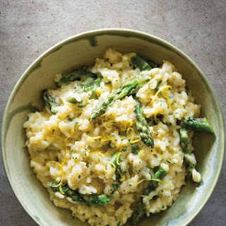Creamy Lemon Risotto with Asparagus.