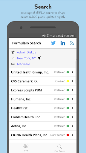Formulary Search