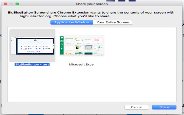 commnpo BigBlueButton Screenshare Extension