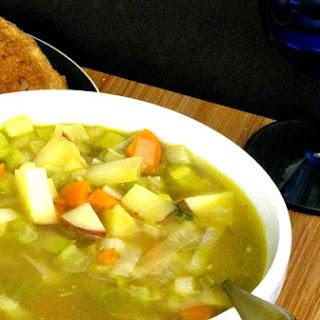 Hearty Autumn Vegetable Soup.