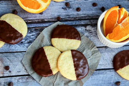 Chocolate Dipped Orange Butter Cookies