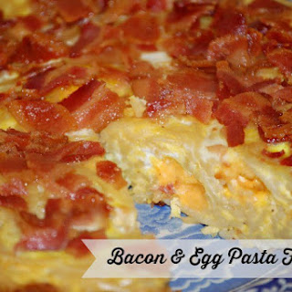 Bacon Egg Pasta Frittata