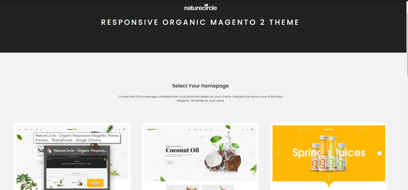 NatureCirle- organic Magento themes