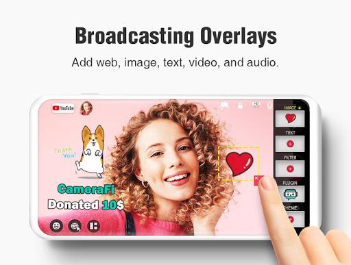 CameraFi Live - YouTube, Facebook, Twitch and Game screenshot 13