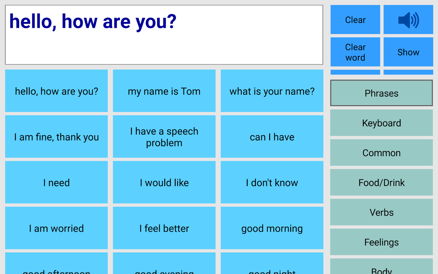 Speech Assistant AAC- screenshot