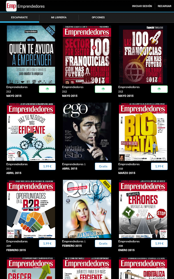 EMPRENDEDORES Revista- screenshot