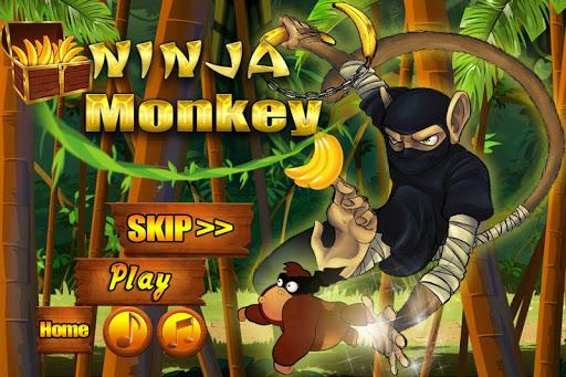 ninja monkey in jungle castle