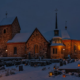 Church in the winter by Dan Westtorp - Buildings & Architecture Public & Historical