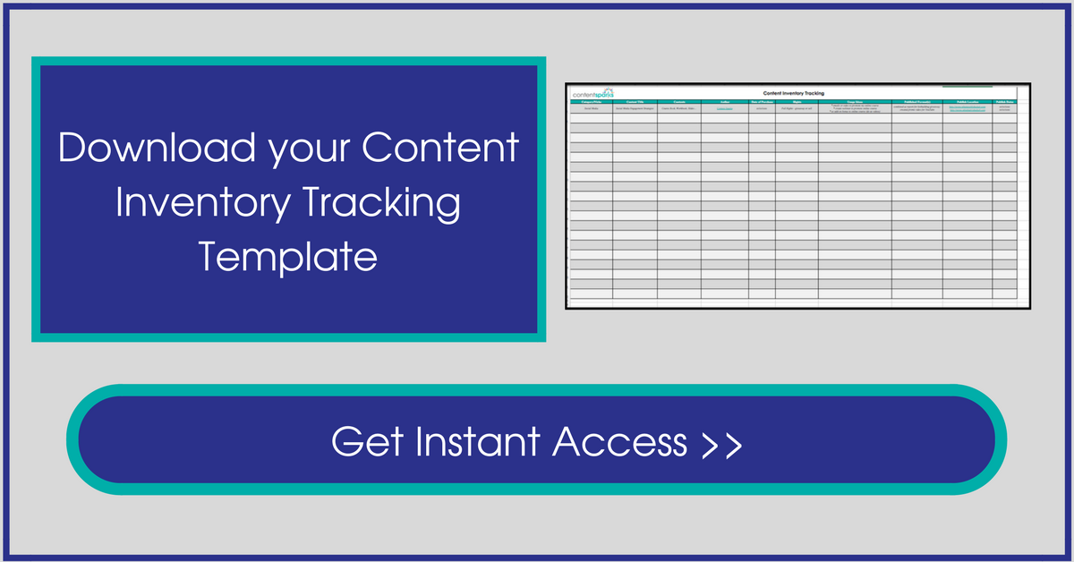 use your content inventory tracking template content sparks