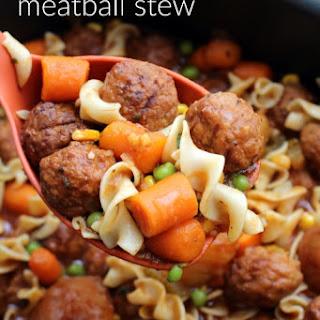 Easy Crockpot Meatball Stew