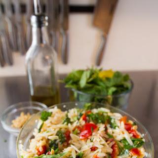 Vegan Mediterranean Orzo Pasta Salad