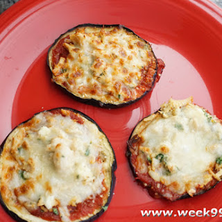 Mini Eggplant Pizza
