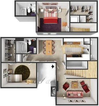 Go to B2 Townhome Floorplan page.