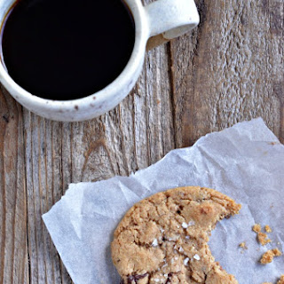 Whole Wheat & Almond Flour Chocolate Chunk Cookies.