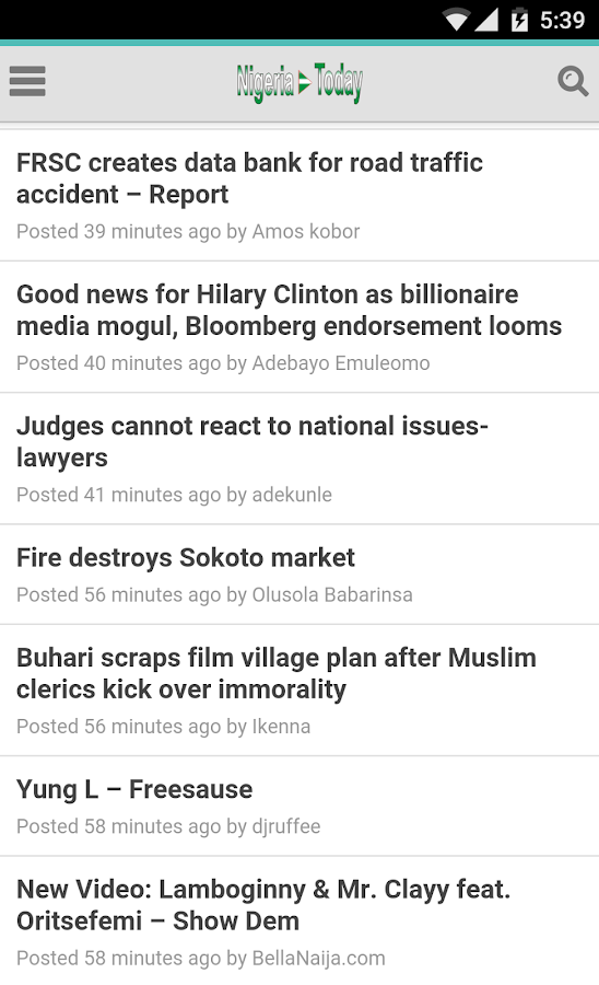 Nigeria Today- screenshot