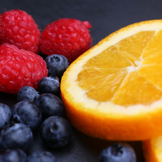 Orange and Berry Infused Water.