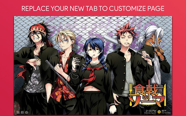 Food Wars Shokugeki No Soma Wallpaper New Tab