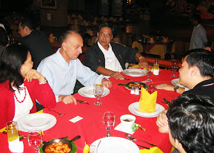 Photo: 21 August 2013 - Welcome Dinner with Judith Lopez, Luis Ortiz-Hidalgo, Alfredo Parungao  and Bach Nguyen