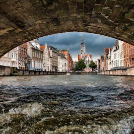 Bruges ( Belgium) by Gianluca Presto - Buildings & Architecture Architectural Detail ( water, under, bruges, architectural detail, historic district, belgium, architecture, bridge, canal, city, river,  )