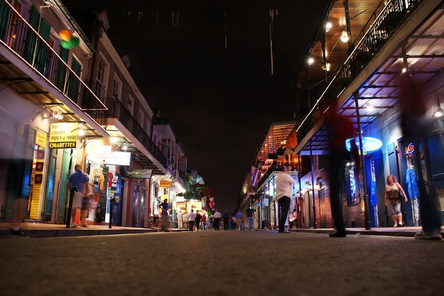 Bourbon Street by Kevin Sullivan - Landscapes Travel ( bourbon, new orleans, street, night )