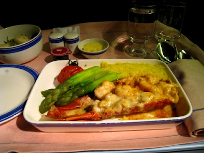 book the cook business class lobster
