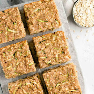 Healthy Zucchini Oatmeal Snack Cake.