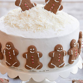 Holiday Gingerbread Cookie Cake.